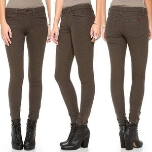 JOE'S Jeans Exposed Zip Ankle Olive Pants NWT 30